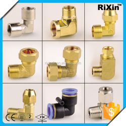 RX-1031 wholesale male female threaded elbow forged fitting elbow brass pipe elbow