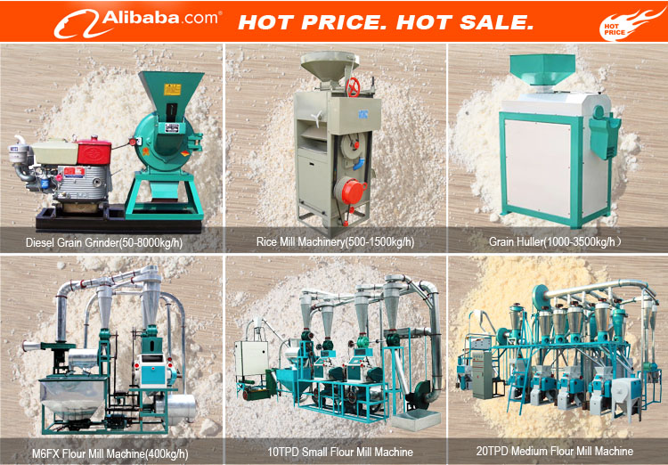 Factory price small scale rice maize corn wheat flour milling grinding equipment mini wheat flour mill plant