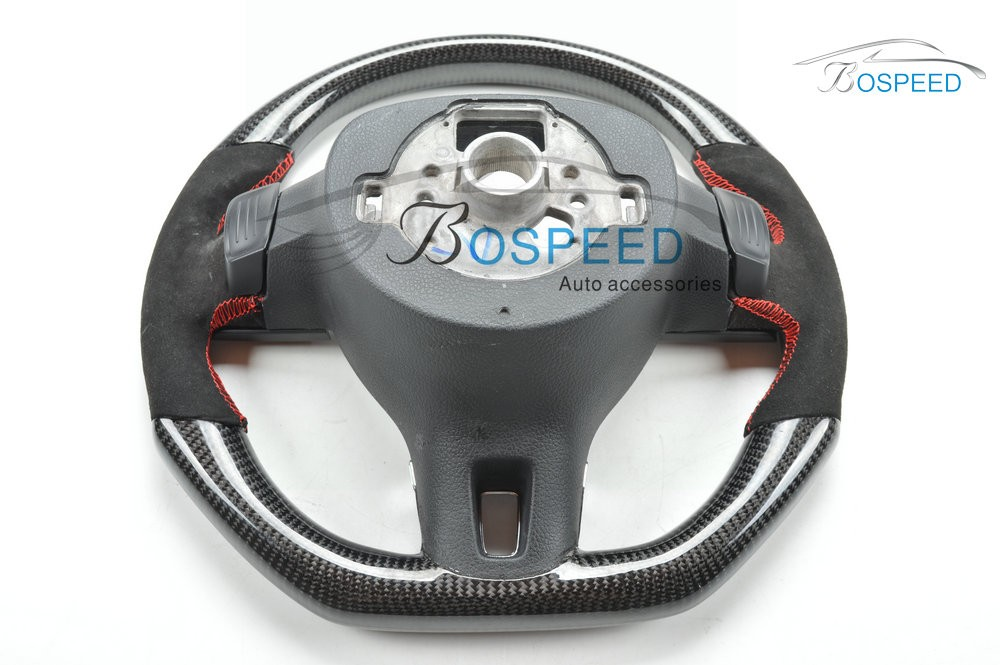2017 most popularCarbon Fiber racing car steering wheel for VW CC