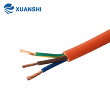 VDE standard orange pvc h05vv-f 3 core 2.5mm electrical wire and cable