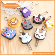 Wholesale with custom design cartoon animal silicone key cover