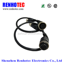 GX12 4 pin female to M12 4 pin female cable connector
