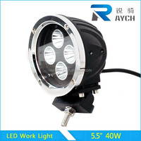 40W LED WORK LIGHT ROUND SPOT BEAM OFF ROAD UTE BOAT LAMP TRUCK JEEP 4WD