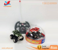 Fashion 1:43 little modeling off-road car remote control toy with light
