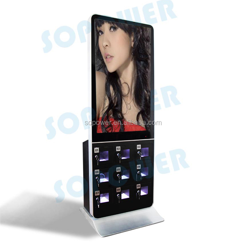 China indoor advertising screen china transparent lcd display screen price with video player/remote control