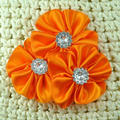 Triple Satin Cluster Flower with Rhinestone Hair Accessories