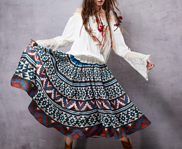 Boutique fashion hmong tribal women skirt