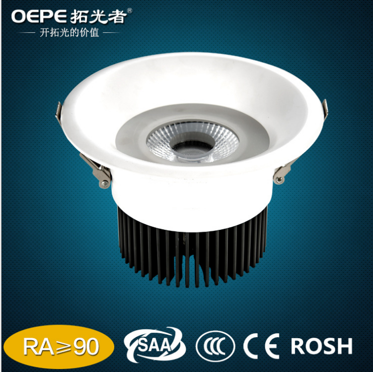 150mm Diameter 120mm cut out recessed 15w cob led <strong>downlight</strong>