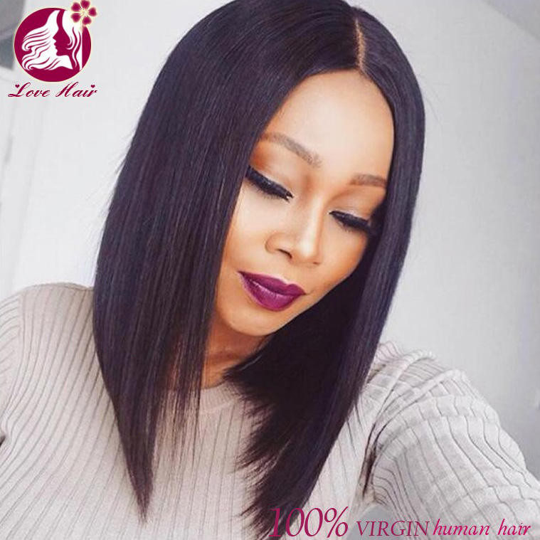 Alibaba <strong>Trade</strong> Assurance top quality 150% density Brazilian raw Virgin unprocessed 13x6 bob lace front wig of human hair wig
