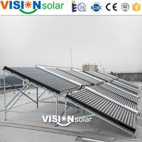 Vacuum tube collector type solar tent heating project