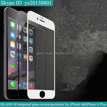 For iphone 6 case tempered glass screen protector with full size cover design