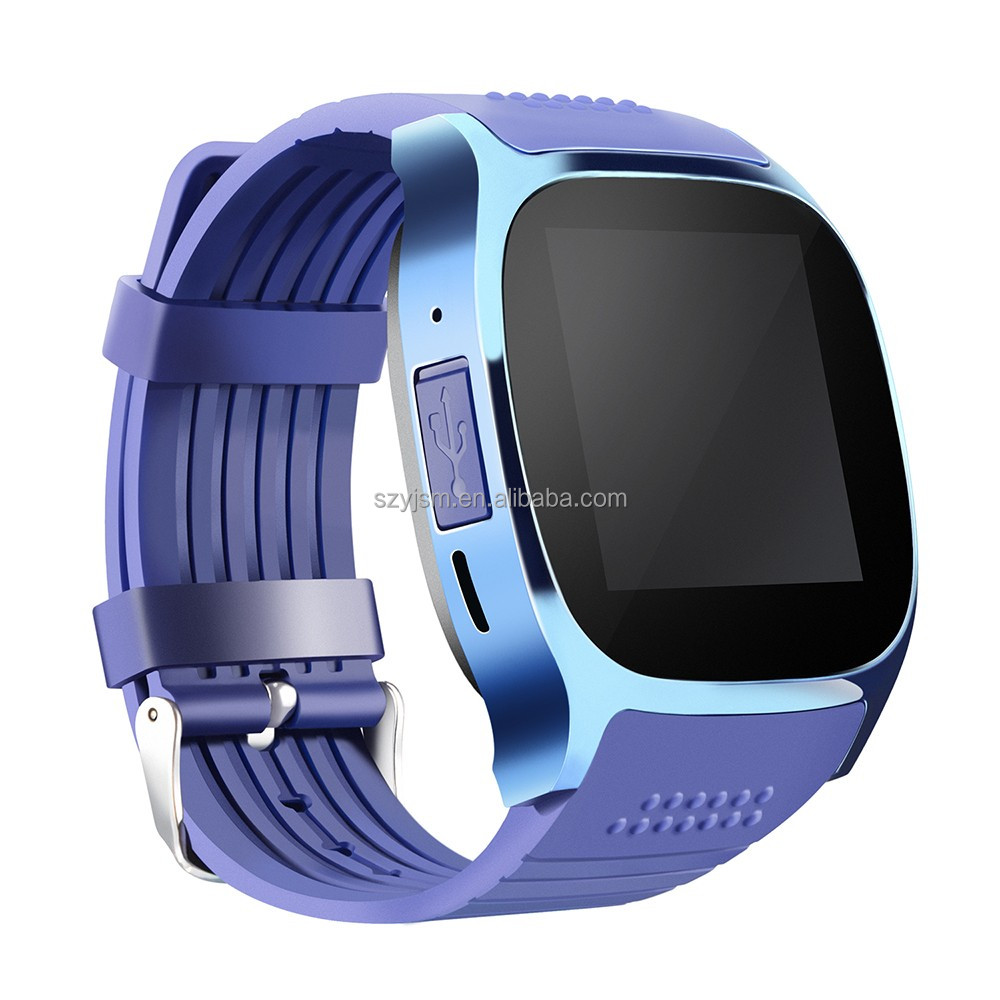 Good quality touch smart watch T8 camera android watch phone with sim card slot