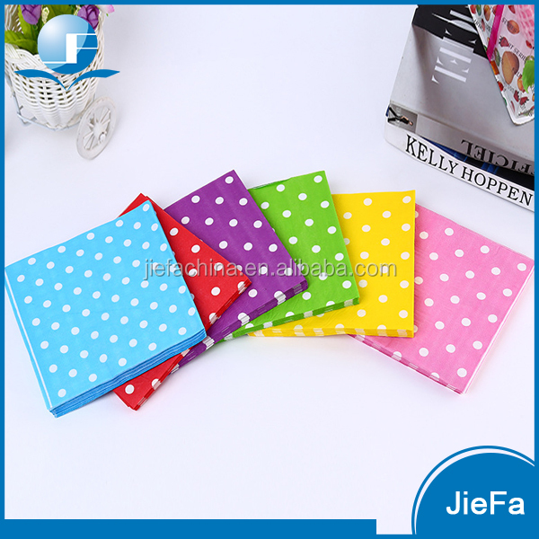 Hot Sale Customize Party Theme Dot Paper Cocktail Napkins