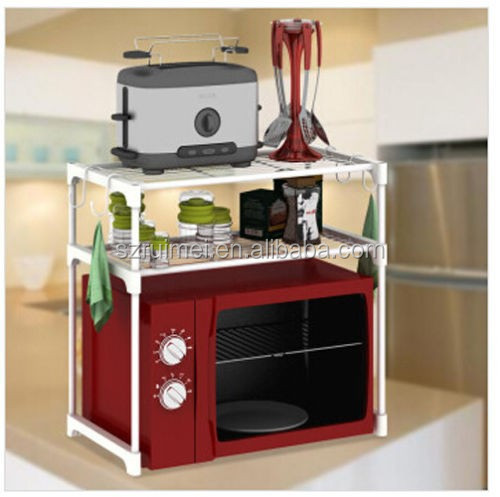 Table Top Metal Microwave Oven Cabinet Grill Rack Shelf Stand Product On Alibaba