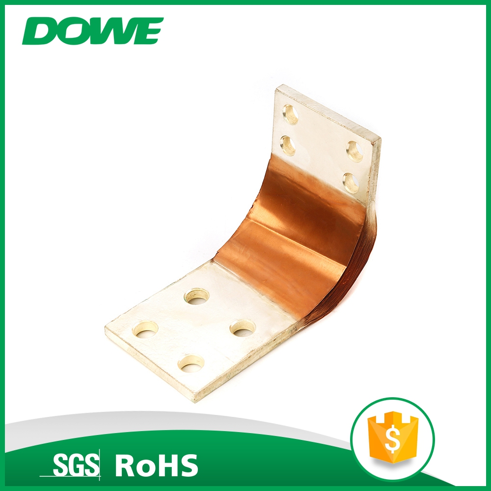 Power transformer soft Ti flexible laminated connector