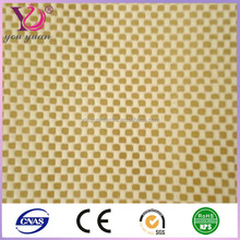 Color optional Anti-slip PVC foam mesh fabric for table cloth