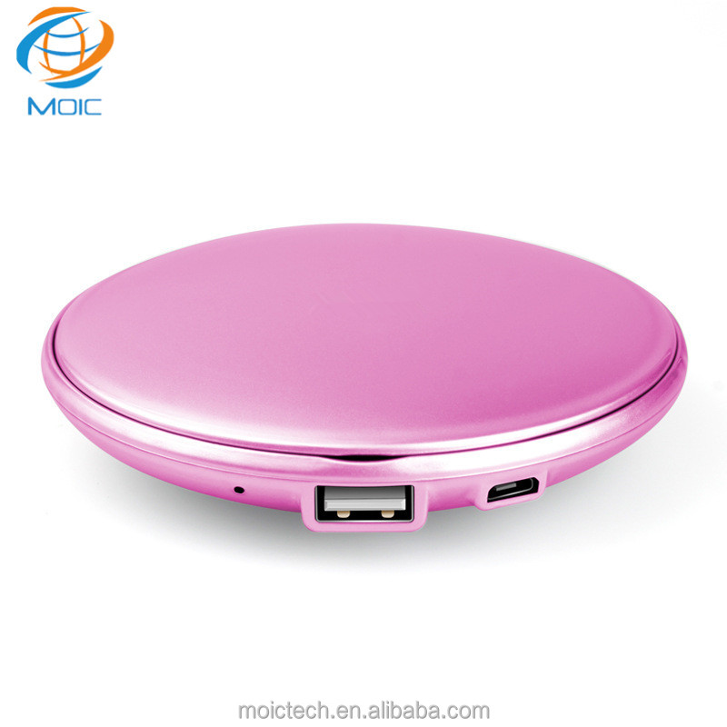 Portable Power Bank For Company Advertisement Promotional Gift Power Bank Wholesale Power Bank With Make-up Mirror