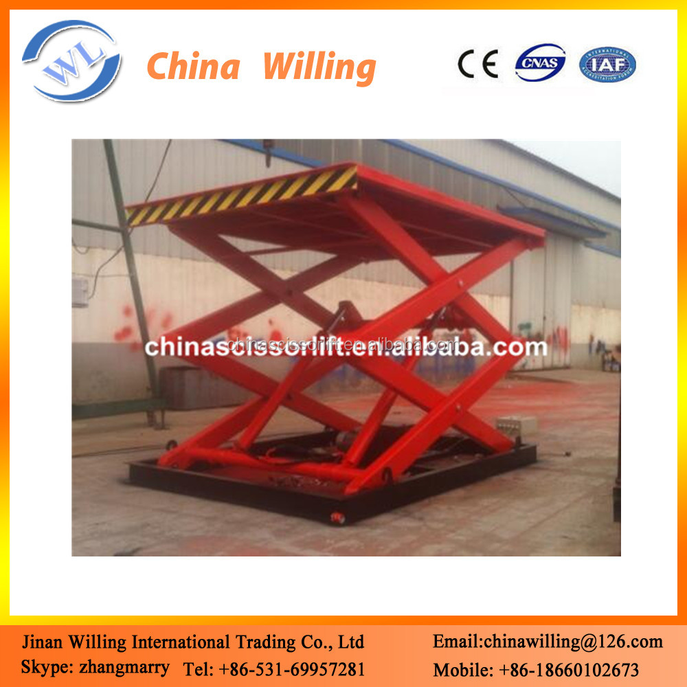 Stationary motorized projector scissor lift table