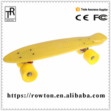 Wholesale mini cruiser fish board skate 4 wheels Blank plastic skateboard