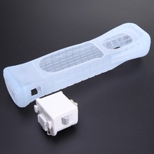 Hot Selling White Motion Plus Adapter Sensor + Silicone Case for Nintendo For <strong>Wii</strong> Remote Console