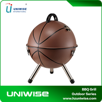 original outdoor/garden portable charcoal bbq grill/bbq grill with basketball helmet design