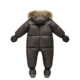 2018 winter brand jacket fashion brown 9M -36M infant coat 90% duck down snow wear baby boy snowsuit with nature fur clothing