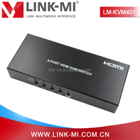 LM-KVM401 4 Input 1 Output HDMI KVM Switch Box, Switched By Auto Switching, Timing Switch, Mouse Movement Switching