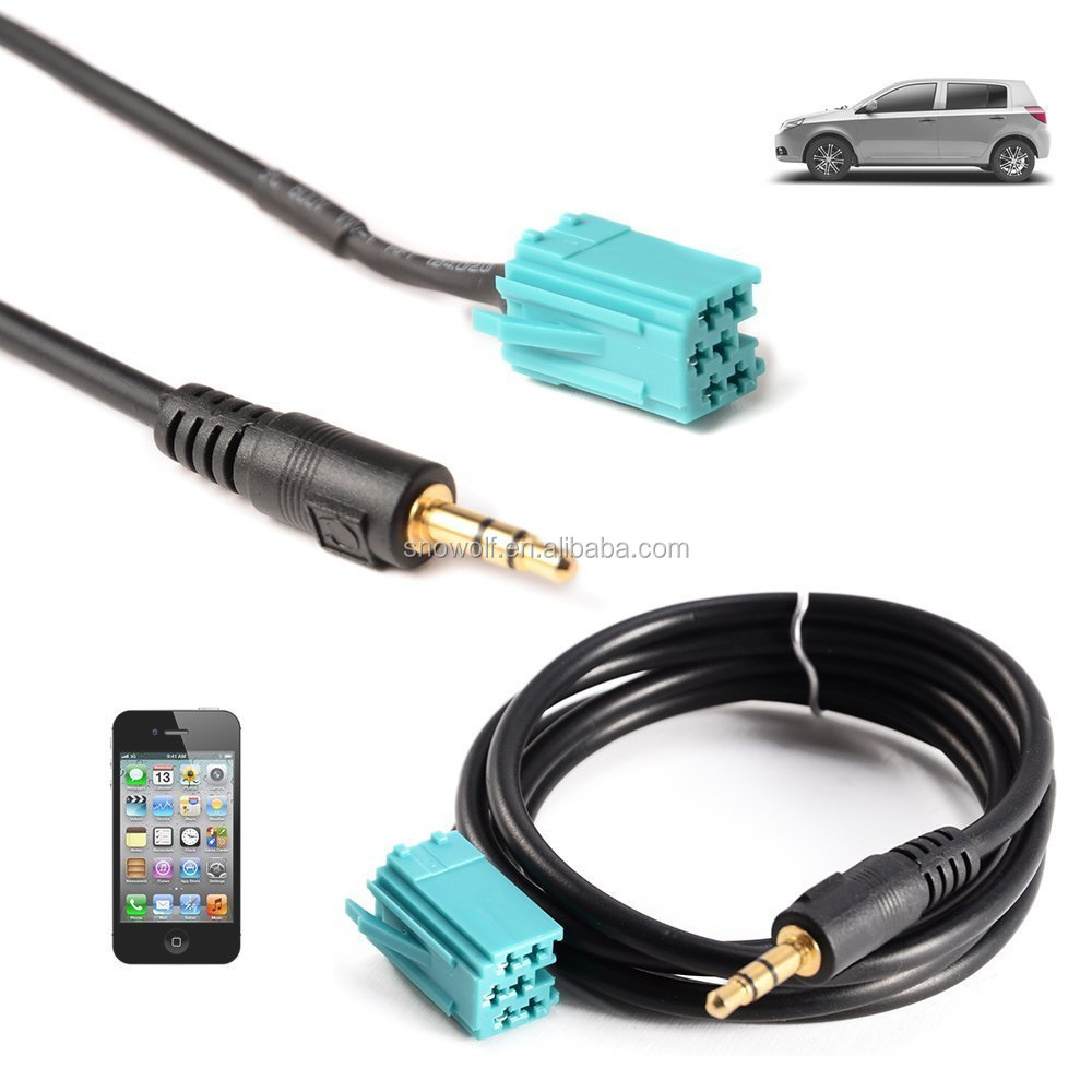 Media Connector 3.5mm Jack Car AUX Input Adapter Audio Cable for Renault Car 3.5mm Aux Audio Cable