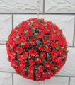 Artificial Flower Ball 30CM Hanging Red Rose Ball