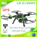 LH-X14HWF 2.4G 4CH FPV Quadcopter With 720P HD Camera GPS Altitude Mode RC Quadcopter Drone