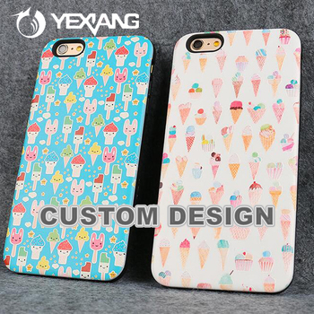 Cell Phone 2 In 1 Hybrid Combo Cover Case For Iphone 7 Plus Skin Design Case