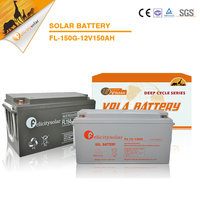 Manufacturer 12V 150Ah VRLA long lifespan solar power storage deep cycle GEL solar battery