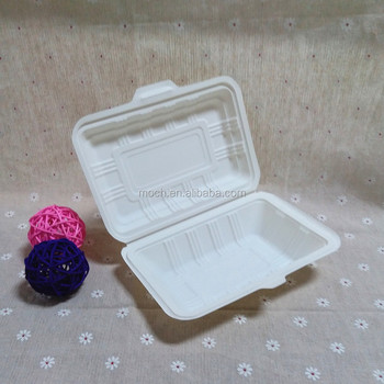 Party Supply Takeaway Bento Lunch Box Biodegradable Fast Food Container