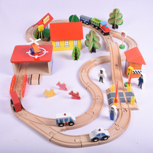Wooden Thomas train 69 suit track wooden children's large educational toys