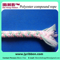 Chromatic braided compound rope for decoration polyester 5mm diameter