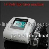 14 Pads best lipo laser fat burning machine