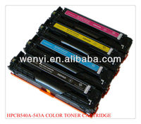 Color Toner Cartridge compatible for HP CB 540A-CB 543A,Color toner with high quality