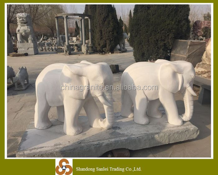 garden decoration animal statue stone elephant