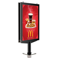 Outdoor scrolling poster advertising display aluminium frame standing light box
