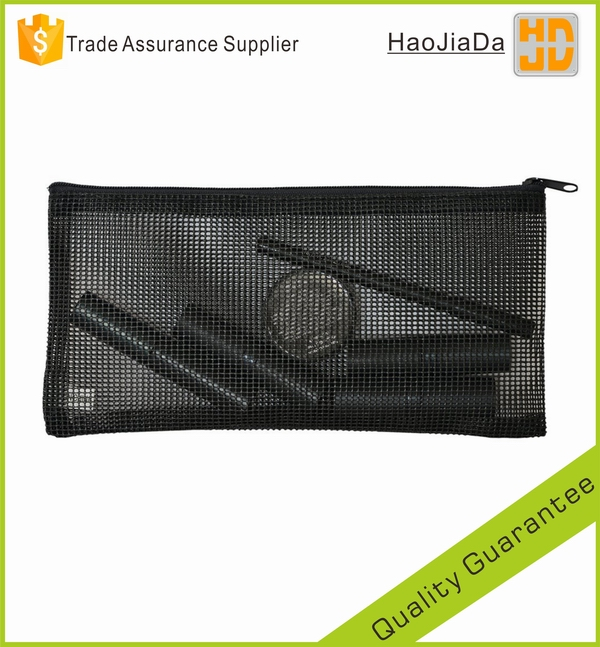 Black Mesh Cosmetic Clear Makeup Bag & Pencil Case