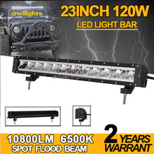 Aftermarket Car Parts 20inch 120W 4x4 C ree Led Car Light Single Row Led Light bar Off Road Auto LED Light Bar