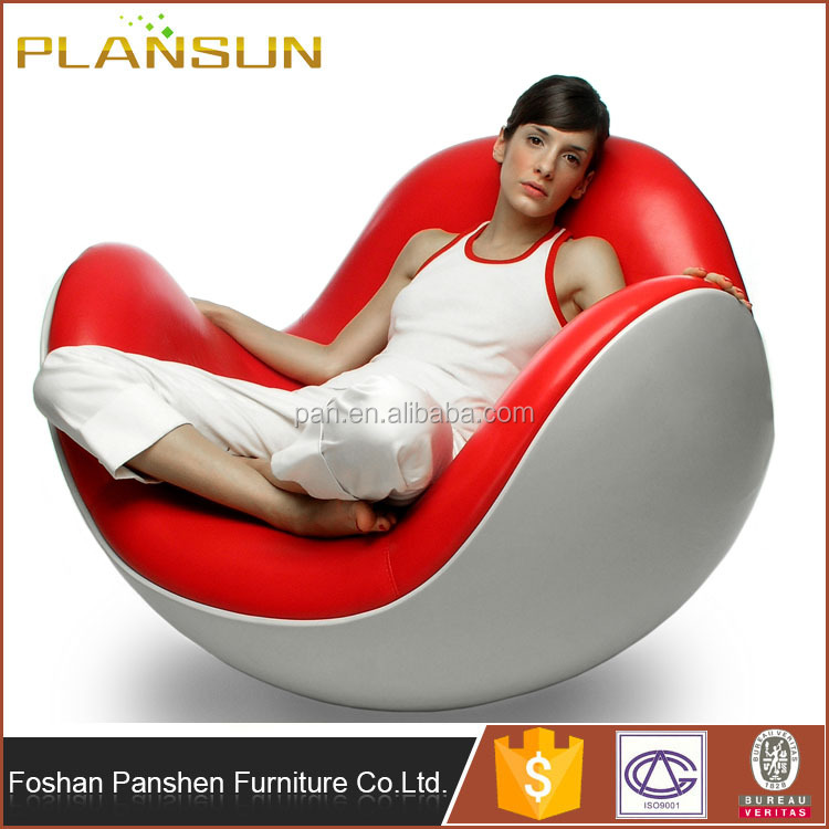 Replica furniture fiberglass Batti designed Placentero rocking Chair