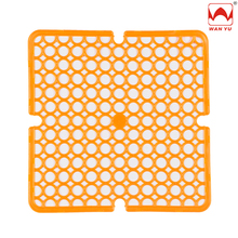 High Quality Square Circles Small Non-slip Chlorine-free PVC Sink Mat for Kitchen