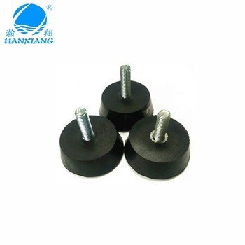 China suppliers wholesale M8 screw fix cone rubber feet with ISO for machine