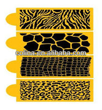 Medium-sized Animal Skin Cake stencil airbrush set cake decorating set