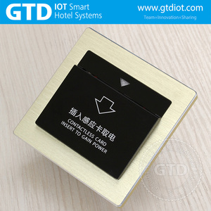 30A Gold Aluminum frame hotel power RF card energy saving switch