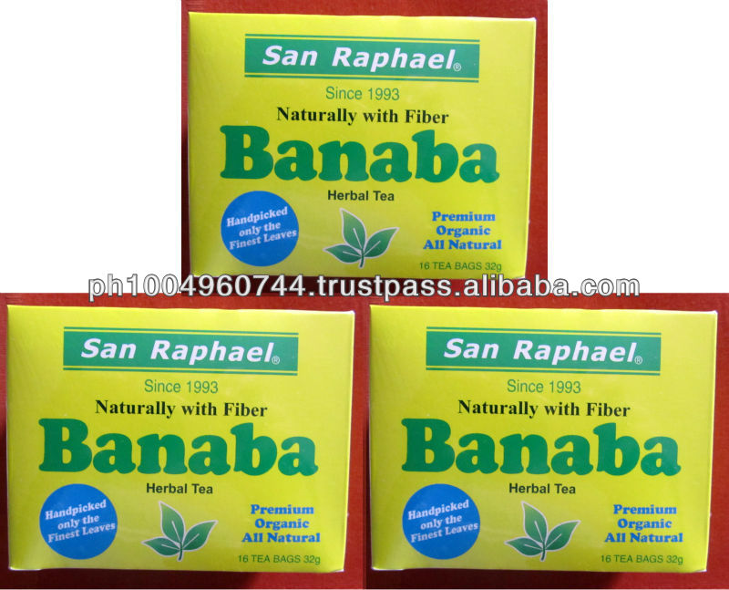 3 San Raphael Banaba Herbal Tea for Diabetes High blood, Asthma