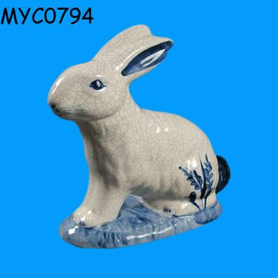 Blue and white porcelain figurine
