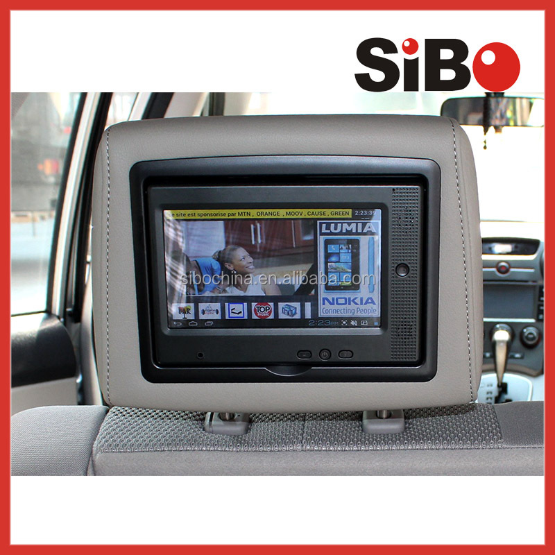 Shenzhen Sibo Car/Taxi Headrest Monitor,Touch Screen with Wifi and 3G