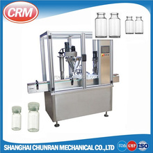 Pharmaceutical aseptic vial powder filling sealing capping machine with rubber stopper